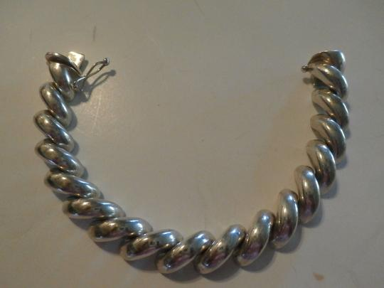 Other UNISEX SAN MARCO MACARONI 925 Sterling Silver Bracelet ITALY 7.5' 37.9 GRAMS Image 4