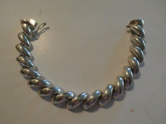 Other UNISEX SAN MARCO MACARONI 925 Sterling Silver Bracelet ITALY 7.5' 37.9 GRAMS Image 5
