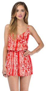 Tobi short dress Coral Boho Bright Romper Print on Tradesy