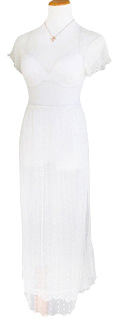 Item - White Sheer Victorian Long Casual Maxi Dress Size 10 (M)