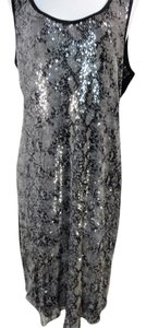 Calvin Klein Snakeskin Black Sequined Dress