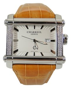 Charriol Charriol Stainless Steel .56tcw Diamond Actor Watch with Saffron Alligator Deployment Strap - Retail $6995