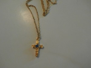 Avon NEW NO TAGS AVON CROSS NECKLACE GOLDTONE