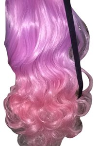 Other 100% Human Remy Hair purple To Pink Ombré Pony Tail Attachment