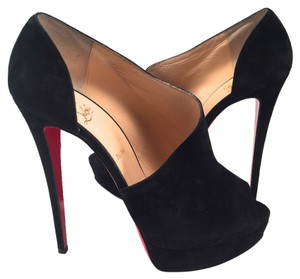 Christian Louboutin Suede Verita 150mm Heels 42 black Platforms