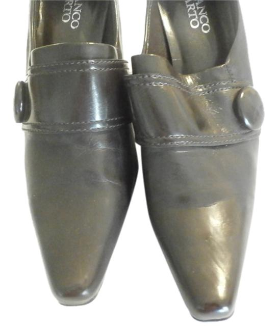 Franco Sarto Brown Button Pointed Toe Flavia Pumps Heels Women's Sz7.5 Formal Shoes Size US 7.5 Regular (M, B) Franco Sarto Brown Button Pointed Toe Flavia Pumps Heels Women's Sz7.5 Formal Shoes Size US 7.5 Regular (M, B) Image 1
