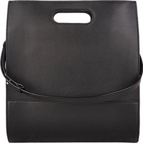 Alexander Wang Calfskin Leather Suede Tote in black