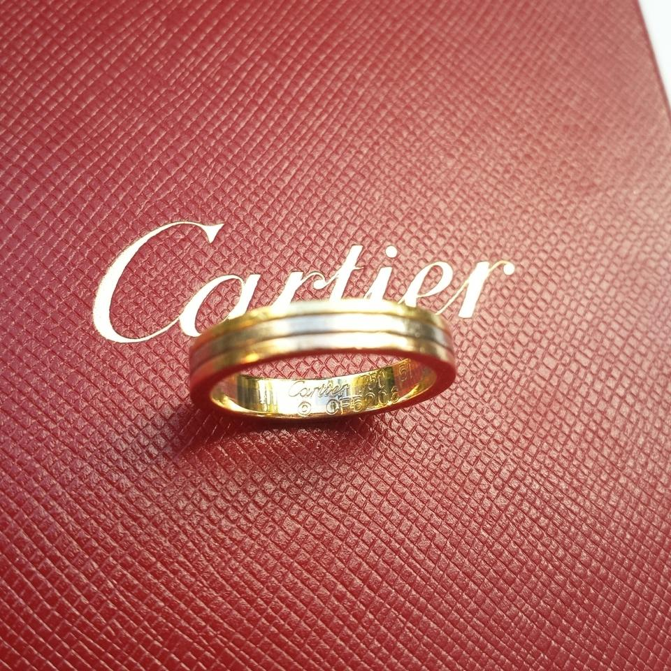 Cartier Pink Yellow and White 18k Three-gold Trinity Ring - Tradesy