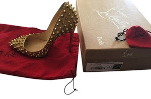 Christian Louboutin Follies So Kate Spike Red Gold Pumps
