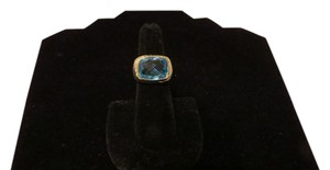 David Yurman David Yurman Noblesse Collection - Modern Noblesse Blue Topaz SS/18k Ring; Size 6