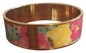 Lilly Pulitzer Lilly Pulitzer gold and enamel bangle bracelet