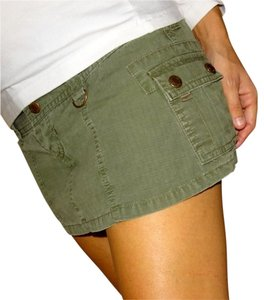 Abercrombie & Fitch Mini Skirt khaki army green olive