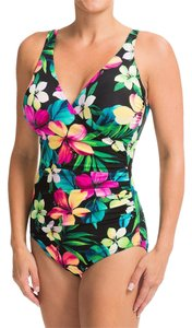 Miraclesuit Hula Wrap Floral Print Swimsuit NEW WITH TAGS Size 16