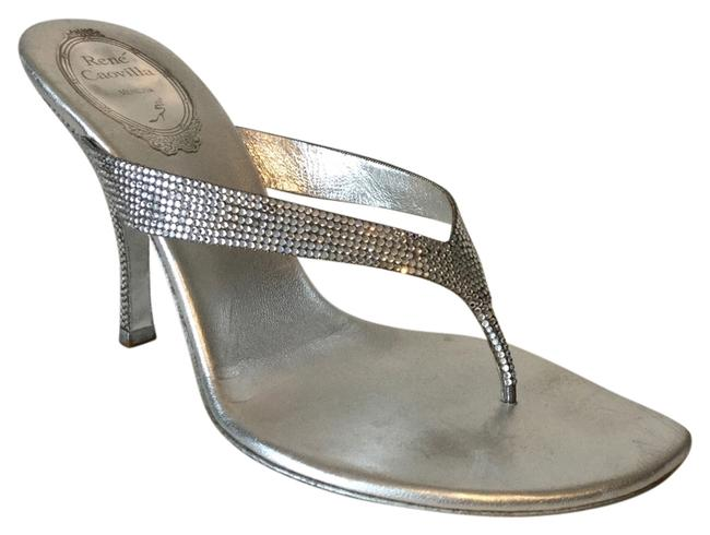 Rene Caovilla Silver Crystal Formal Shoes Size US 7.5 Regular (M, B) Rene Caovilla Silver Crystal Formal Shoes Size US 7.5 Regular (M, B) Image 1