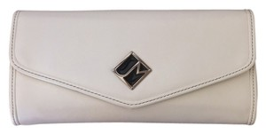 Jill Marin Vegan Leather Italian White Clutch