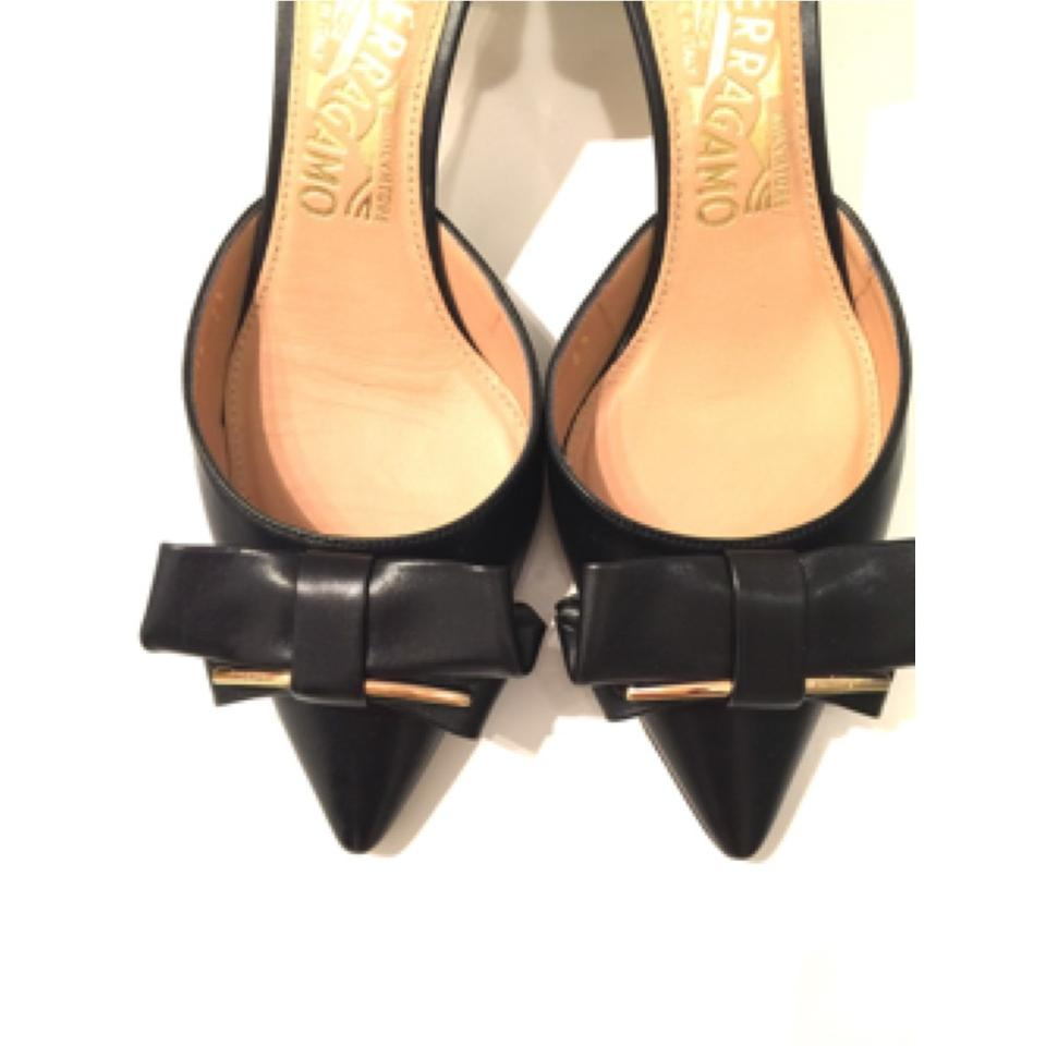salvatore ferragamo rietta bow blac pumps on sale 53 off pumps on sale. Black Bedroom Furniture Sets. Home Design Ideas
