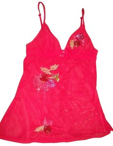 Victoria's Secret short dress Dark Pink Sequined Flowers Sheer Mesh on Tradesy
