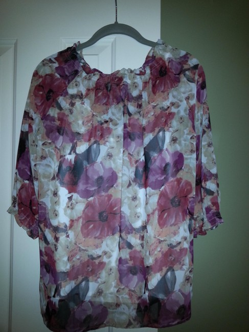 Other Top Red, Pink and Beige