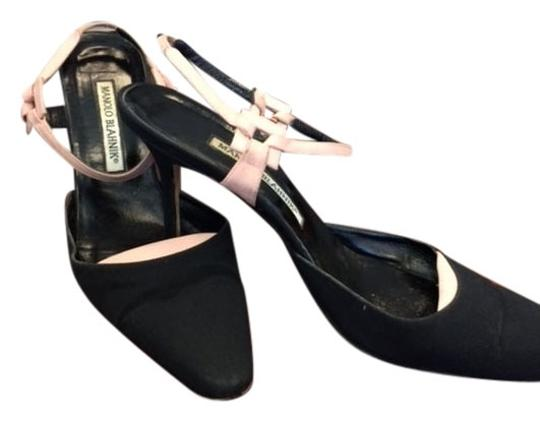 Manolo Blahnik Black/Pink Pumps
