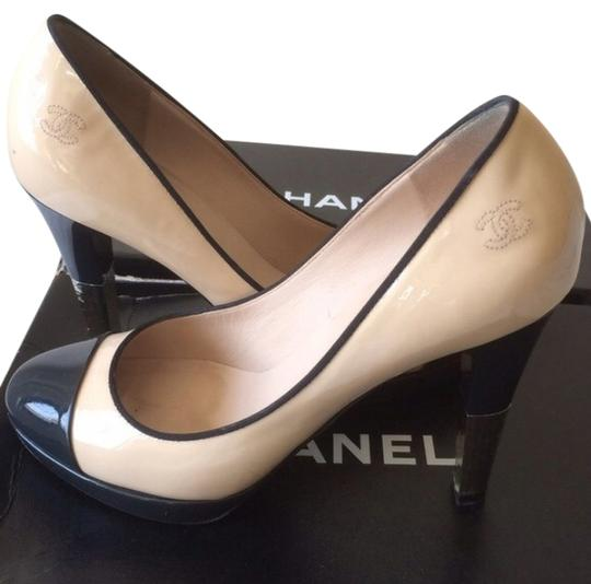 Preload https://item5.tradesy.com/images/chanel-two-tone-patent-leather-platform-pumps-1187184-0-0.jpg?width=440&height=440