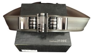Gianfranco Ferre Gianfranco Ferre Women's Belt Rubberized - Gunmetal And Lucite