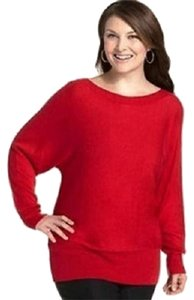 Alfani Wide Neck Knit Plus Size 2x Top Red