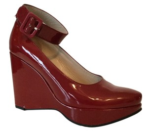 Robert Clergerie Red Patent Leather Wedges