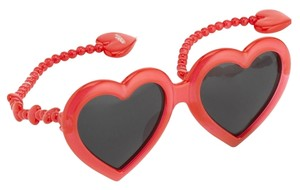 Jeremy Scott Authentic Limited Edition Jeremy Scott x Linda Farrow Red Heart Sunglasses
