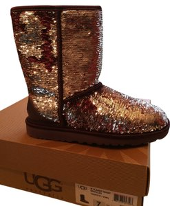 UGG Australia Sequin Leather Fleece Sangria Boots