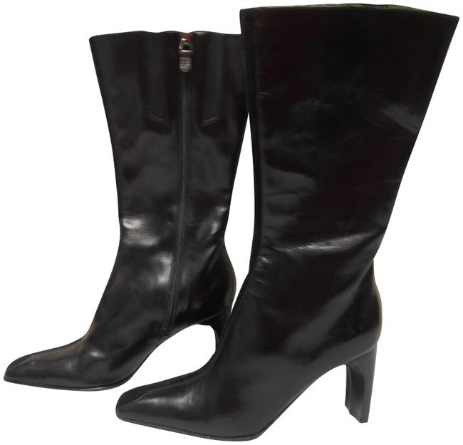 Donald J. Pliner Black Mid-calf Leather Boots/Booties Size US 5.5 Regular (M, B) Donald J. Pliner Black Mid-calf Leather Boots/Booties Size US 5.5 Regular (M, B) Image 1