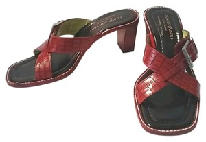 Donald J. Pliner Reptile Leather Red Sandals