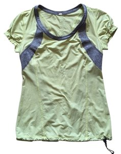 Lululemon Lululemon,Lime,Green,&,Gray,Work,Out,T-Shirt,