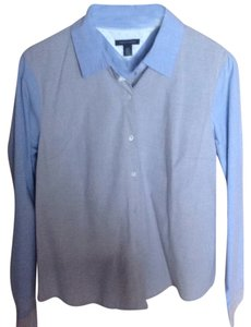 Tommy Hilfiger Button Down Shirt Blue, gray