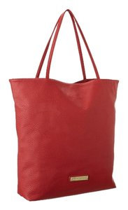 BCBGeneration Large Leather Tote in Red