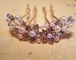 Gorgeous Bridal Rose Gold Hair Comb