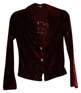 Bejeweled by Susan Fixel Top Burgundy