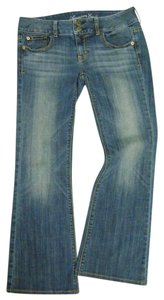 American Eagle Outfitters Artist Sexy Soft Stretch Boot Cut Jeans-Medium Wash