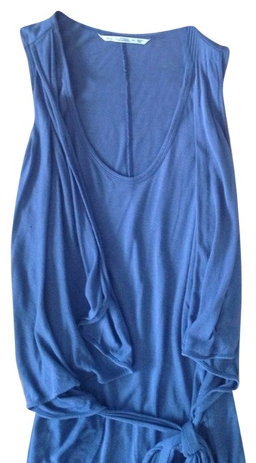 Item - Blue For Uniqlo Wrap Above Knee Short Casual Dress Size 2 (XS)