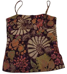 Trina Turk Top Chocolate brown with other colors