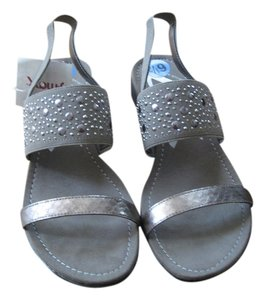 AK Anne Klein Pewter Sandals