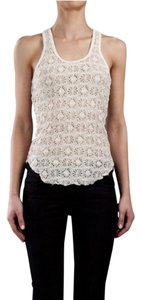 Isabel Marant Crochet Lace Top White