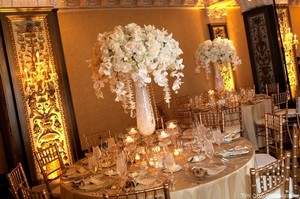 2 Satin -champagne Table Cloths
