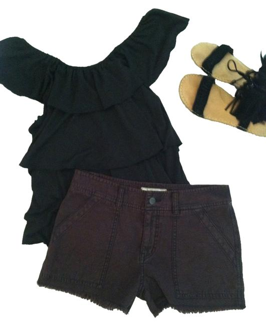 Item - Black/Brown Distressed Shorts Size 4 (S, 27)