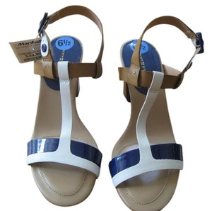 Tommy Hilfiger White, Blue, Tan Sandals