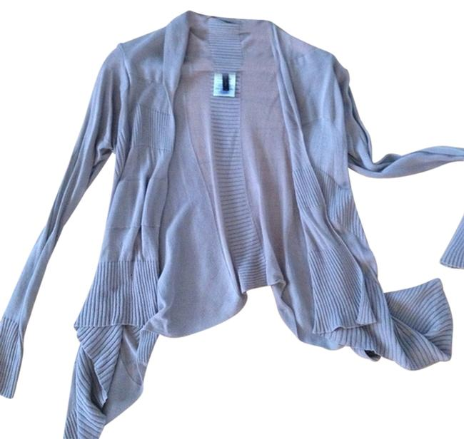 BCBGMAXAZRIA Draped Longsleeve Knit Cotton Cardigan Image 0