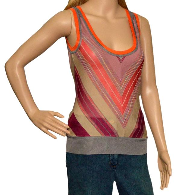 M Missoni Top Pink / salmon / plum / tans