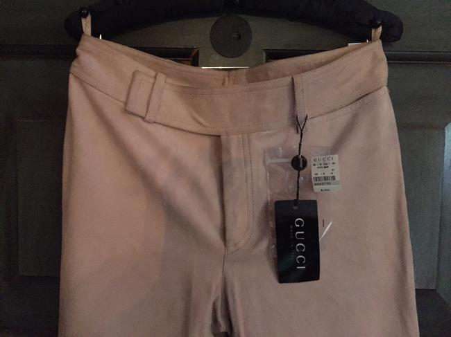 Gucci New Straight Pants Honey Beige Suede Image 1