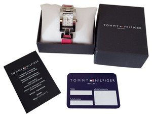 Tommy Hilfiger Tommy Hilfiger white graphic dial with silicone quartz ladies watch #1781068