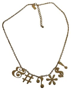 Kate Spade Kate Spade New York Gold Tone Pardon My French Statement Necklace