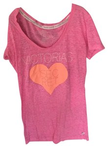 Victoria's Secret T Shirt Pink and Orange